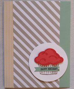 Cupcake Card using Stampin' Up Stamp Set Sprinkles of Life. Card created By The Shore Stamping with Jen Pitta http://www.bytheshorestamping.com/2015/06/so-have-you-seen-it.html