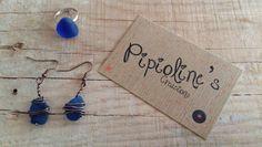 Pendientes y anillo piedra cristal Blau