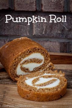 Pumpkin Roll is delicious and the perfect fall dessert! - Love, Pasta and a Tool Belt | dessert recipes | desserts | recipe ideas | pumpkin | fall recipes |