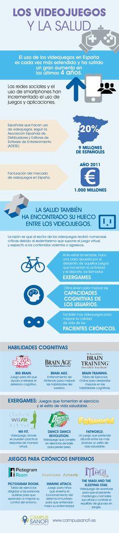 Los videojuegos y la salud #infografia #infographic #health | TICs y Formación