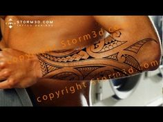 How to draw a mixed Polynesian style forearm tattoo design, from sketch to digital mockup - YouTube