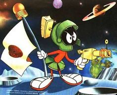 marvin the martian - uludağ sözlük galeri Classic Cartoon Characters, Favorite Cartoon Character, Classic Cartoons, Looney Tunes Cartoons, 90s Cartoons, Cartoon Faces, Cartoon Drawings, Marvin The Martian, Funny Pictures With Captions