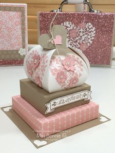 Stacked with Love Gift Box Tutorial                                                                                                                                                                                 More