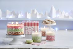 Adorable Just Desserts™ line by PartyLite ... you have to see more. Go to www.partylite.biz/alvita and shop by name or catalog :)
