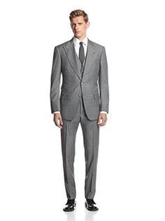 Tom Ford Men's Peak Lapel Suit (Charcoal)