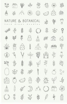 Hand drawn nature & plants doodles Hand drawn nature & plants doodles,a. Handlettering Hand drawn nature & plants doodles by Crocus Paperi – free good of the week Related posts:Unterarm Tätowierungen Ideen -. Doodle Tattoo, Kritzelei Tattoo, How To Tattoo, Tattoo Quotes, Tattoo Flash, Tattoo Fonts, Icon Tattoo, Samoan Tattoo, Tattoo Moon