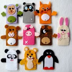 Cute finger puppets