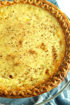 Old Fashioned Cream Custard Pie Easy Pie Recipes, Amish Recipes, Cream Pie Recipes, Sweet Recipes, Easy Desserts, Delicious Desserts, Dessert Recipes, Dessert Ideas, Pie Shop