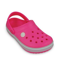 Take a look at this Neon Pink & Oyster Kerren Clog by Crocs Kids on @zulily today!
