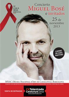 Solidaritza't en la lluita contra el SIDA el proper 25 de novembre al Museu Nacional d'Art de Catalunya (MNAC) Miguel Bose, Win Money, Types Of Music, Hard Rock, Style Icons, Beautiful Men, Handsome, Singer, Celebrities