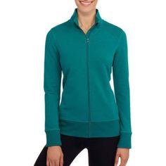 Athletic Works Women's French Terry Jacket, Size: Medium, Blue