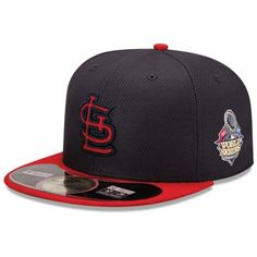 a2d35a9efc662 New Era St. Louis Cardinals 2013 MLB World Series Bound Diamond Era  On-Field 59FIFTY Fitted Performance Hat - Navy Blue Red