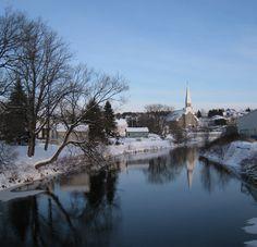 Village en hiver - L'Anse-Saint-Jean Lac Saint Jean, Skiing, Winter, Ski