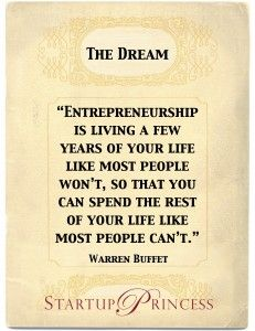 Warren Buffet Quote on Startup Princess