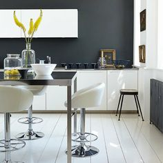 Monochrome Ideas | Modern Kitchen Designs. For more decorating ideas visit Redonline.co.uk