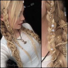 beaded viking braids......sooooo beautiful <3 <3 <3                                                                                                                                                                                 More