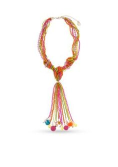 Erica Lyons  Bead All About It Collection Knot and Tassel Necklace