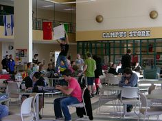 The UW-FDL students host a Mock Election during free hour in the University Center Commons (2012).