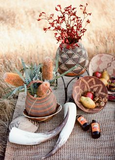 African baskets, for a rustic tribal picnic
