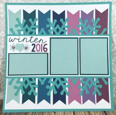 Courtney Lane Designs: Cricut Winter 2016 scrapbook layout