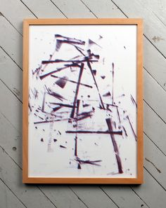 Blue and red abstract duplicator print A3. kr150.00, via Etsy. by Sans Vase