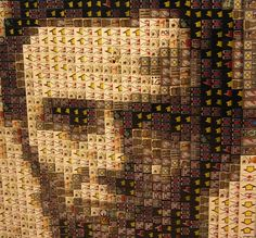 Abe Lincoln by Arthur Gugick Lego Sculptures, Sculpture Art, Lego Toys, Lego Lego, Lego Mosaic, Lego Builder, Auction Projects, Lego Worlds, Lego Parts