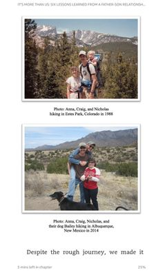 Estes Park, Father And Son, Lessons Learned, New Mexico, Colorado, Web Design, Journey, Books, Livros