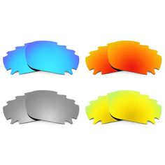 Revant Replacement Lenses for Oakley Jawbone Vented Polarized 4 Pair Combo Pack P1 4-Pack of Lenses - Ice Blue MirrorShield Coating, Titanium MirrorShield Coating, Fire Red MirrorShield Coating, 24K Gold MirrorShield Coating (Compare to Oakley Ice Iridium, Chrome Iridium, Fire Iridium, Gold Iridium). 100% Polarized Polarium (Reduces Glare and Enhances Contrast) and 100% UV Protection. Ice Blue - 1... #Revant #Shoes