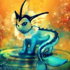 Vaporeon #pokemon This is so beautiful!