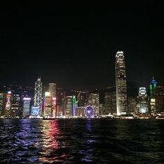Hong Kong at night. Photo courtesy of blissedoutbeauty on Instagram.