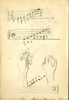 Sketch by Samuel Greenberg, courtesy of the Fales Library and Special Collections, New York University.