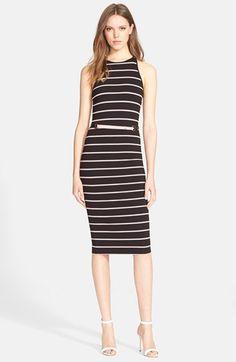 Ted Baker London 'Linn' Stripe Midi Dress available at #Nordstrom