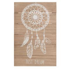 Tableau attrape-rêves en bois 23 x 34 cm JUST DREAM