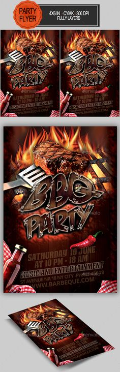 Wild City Flyer Graphics, Party flyer and Font logo - bbq flyer
