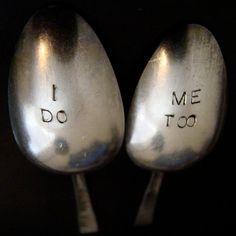 Custom Wedding Gift Soup Spoon Set of 2 by sweetoldstuff on Etsy