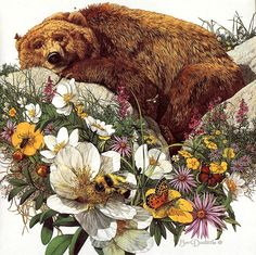 Bev Doolittle, Bugged Bear - have this guy framed in my entry way - never get tired of looking at it!