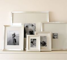 Lee Gallery Frames #potterybarn (Photo of Riley Dog in the bathroom as a puppy. Place over toilet)
