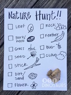 Kids love nothing more than playing games and hunting around for hidden objects but we don't have to limit it to Easter, Christmas, and birthdays! Scavenger hunts are fun any time of the year. In this activity, I have created a hunt list and some fun things to search for while looking around the yard.