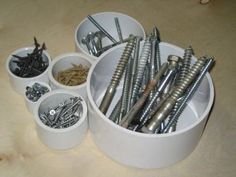 FREE PVC PROJECT PLANS...use for brushes and glitters