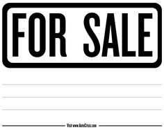 Free Printable Car For Sale Sign Signs Cars And Purchase