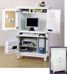 How To Hide Desktop Computer In Living Room Office Area