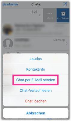 WhatsApp (iPhone): Chatverlauf per E-Mail senden - TechMixx Iphone, Ipad