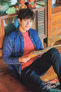 """'Begin Again' Official Goods - Postcard © La Esperanca Kim Myungsoo, Woollim Entertainment, Latest Pics, Dimples, Handsome Boys, Friends Forever, How To Remove, Kpop Boy, Drama"