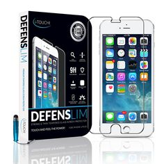 iPhone 6 Plus Screen Protector by i-TOUCHI - Durable Shatter Resistant Tempered Glass Shield for iPhone 6+ [5.5 inch] - Oleophobic and Scratch Resistant - Rounded Contour Edges for Perfect Fit - Manufacturer Lifetime Replacement Warranty (iPhone 6 Plus - Glass)