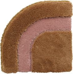 Frankly Amsterdam Full Circle Carpet 3605.  Brown and pink carpet with round edges.