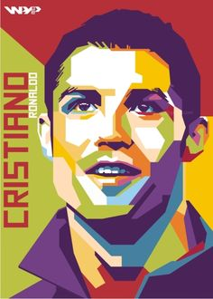 Cristiano ronaldo in wedha's pop art portrait Pop Art Portraits, Portrait Art, Cristiano Ronaldo, Pop Art Illustration, Arte Pop, Stencil Art, Rock Art, Unique Art, Art Lessons