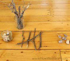 A great way to introduce the concept of tally marks to kids. Great hands on math on this blog!