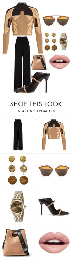 """Lunch with the girl's."" by kotnourka ❤ liked on Polyvore featuring Rochas, adidas Originals, Suzanna Dai, Christian Dior, Emporio Armani, Malone Souliers, Jil Sander and Nevermind"