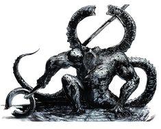 Titanite Demon - Pictures & Characters Art - Dark Souls