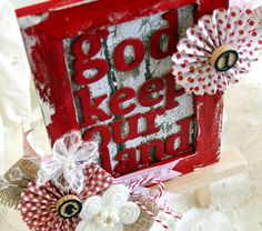glorious & free | Belle Papier {pretty paper} Canada Day frame - God keep our land